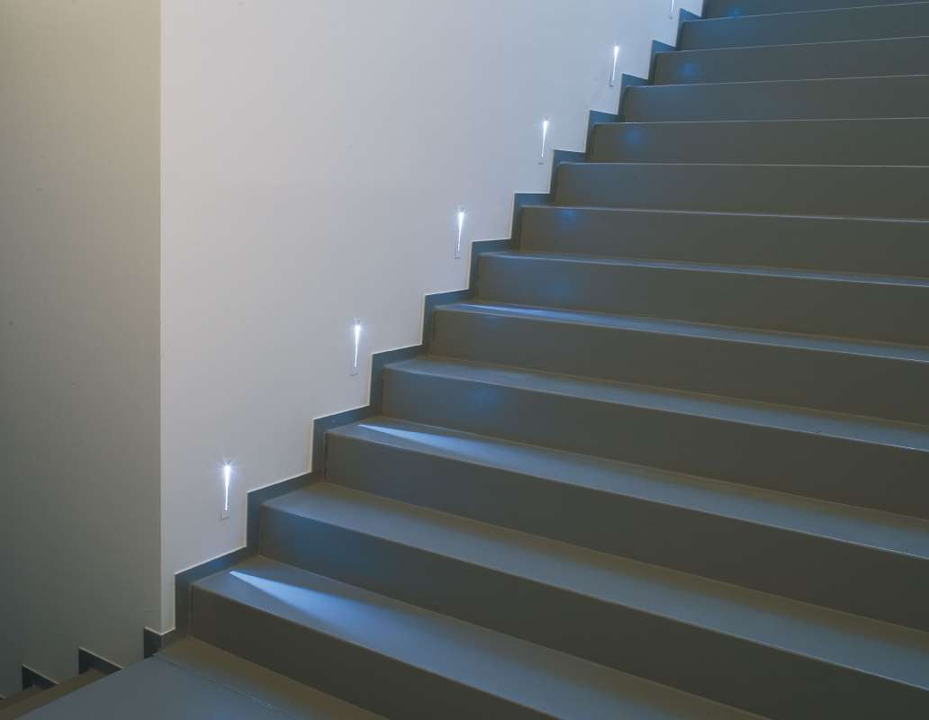 Stairway Lighting Fixtures: Staircase With LED Lights….
