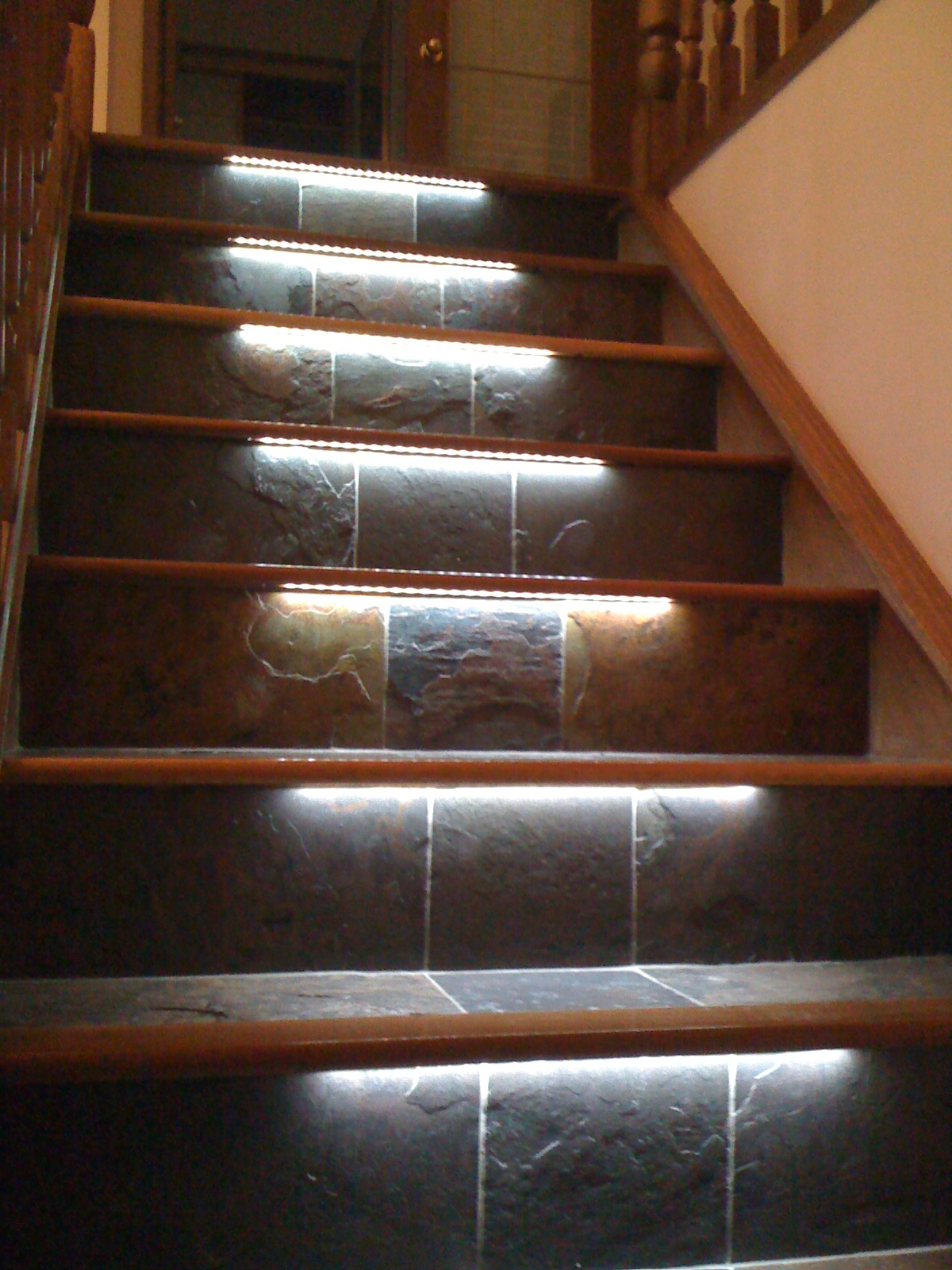 Staircase With LED Lights SPARKLE WORDS Social Blog
